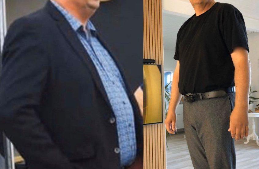 henrik har det meget bedre psykisk og som bonus smidt 15 kg på 8 uger